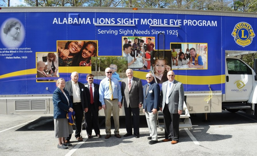 The Alabama Lions' first Mobile Eye and Vision Clinic has hit the road to bring eye care to thousands of underserved Alabamians. (Michael Tomberlin/Alabama NewsCenter)