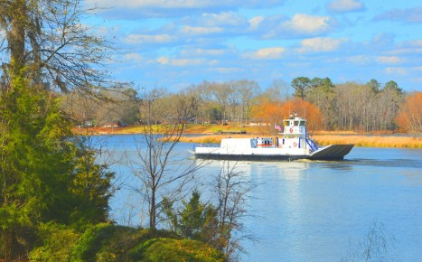 Alabama's Gee's Bend Ferry, a popular tourist attraction that runs from Camden to Gee's Bend, will soon become the first all-electric passenger ferry in the U.S., and the second in the world. (Ethan Van Sice)