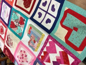 A lot of quilting gets done within the 19th-century walls of Ashville House. (Brittany Faush-Johnson/Alabama NewsCenter)