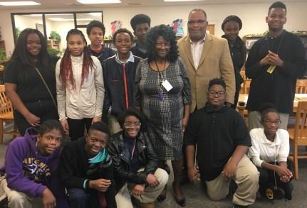 Ossie Ware Middle School teacher Jeanette Lee, center, is a Fusion NextGen finalist. (Brittany Faush-Johnson/Alabama NewsCenter)