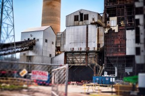 Demolition of Alabama Power Plant Gorgas Units 6 and 7 is bringing an end to more than 50 years of service of the coal-fired units. (Christopher Jones / Alabama NewsCenter)