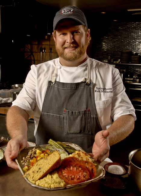 "Rob McDaniel, executive chef of SpringHouse restaurant on Lake Martin, is a semifinalist for the James Beard Foundation Awards' ""Best Chef: South."" (Billy Brown / Alabama NewsCenter)"
