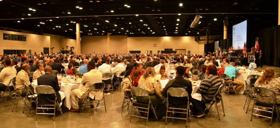 A large crowd attended the 2017 American Values Luncheon at the Birmingham-Jefferson Convention Complex. (Michael Tomberlin / Alabama NewsCenter)