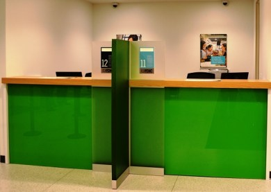 Corporate banking is a big part of the downtown branch and is function not found at all of the newly designed Regions branches. (Michael Tomberlin / Alabama NewsCenter)