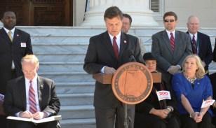 Sen. Arthur Orr of Decatur announces Alabama's plans to celebrate the state's bicentennial. (Michael Tomberlin/Alabama NewsCenter)