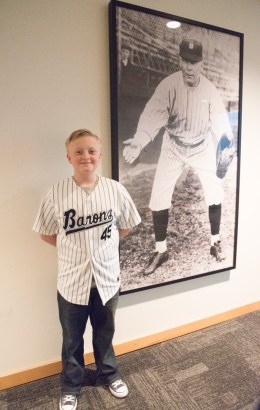 A young baseball fan and singer hopes to make the cut to perform the national anthem at one of this year's Birmingham Barons games. (Brittany Faush-Johnson/Alabama NewsCenter)