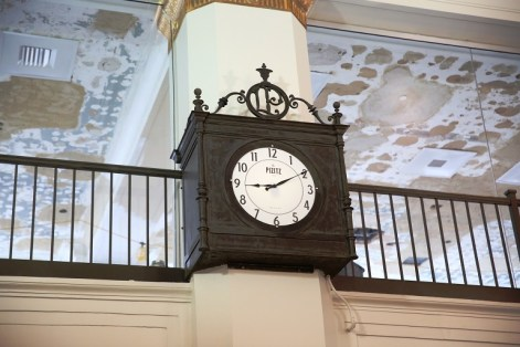 A restored clock that was uncovered during the Pizitz renovation. (Contributed)