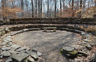 The Prayer Circle was built, torn down, and built again seven times. (Anne Kristoff / Alabama NewsCenter)