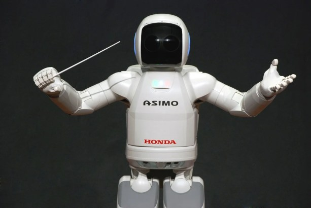 ASIMO conducted the Detroit Symphony Orchestra in 2008. (Honda)