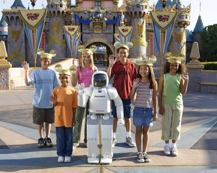 ASIMO has visited Disneyland. (Honda)