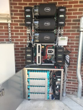 A solar power and data collection system at the University of Alabama's Sewell-Thomas baseball stadium help power the facility and provide data for UA's student researchers. (Brittany Faush-Johnson/Alabama NewsCenter)