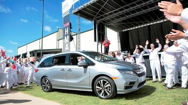 All-new Honda Odyssey rolls off Alabama assembly line