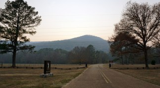 Entrance to Russell Cave National Monument. The cave is at the base of Montague Mountain. (Erin Harney/Alabama NewsCenter)