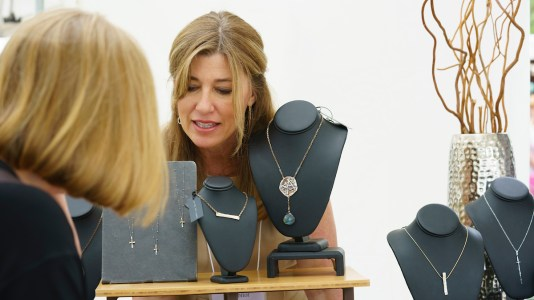 Jewelry artist Leigh Ann Hurst sometimes hates to let her creations go, but she likes to think about other people enjoying them. (Mark Sandlin/Alabama NewsCenter)