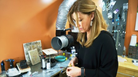 Leigh Ann Hurst started playing around with making jewelry in 2009 and soon realized she had found her passion. (Mark Sandlin/Alabama NewsCenter)