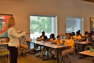 Vines said it's important to prepare early, taking science and math classes for technical careers. (Donna Cope/Alabama NewsCenter)
