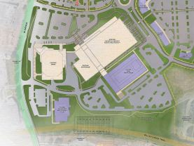 Plans call for a new natatorium and a new home for the A.G. Gaston Boys & Girls Club as expansions of the CrossPlex. (Davis Architects)