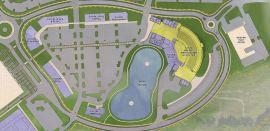 A 4,000-seat amphitheater is part of future development plans at CrossPlex Village. (Davis Architects)