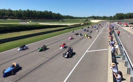 Electric vehicles built by high school students compete in this week's Electrathon race at Barber Motorsports Park. (Alabama NewsCenter)