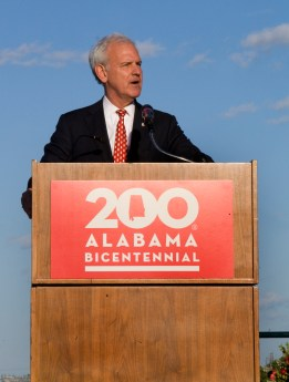 U.S. Rep. Bradley Byrne addresses the audience at the Alabama Bicentennial kickoff. (Keith Necaise)