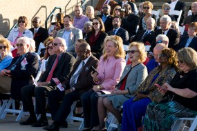 The audience listens to speakers t the Alabama Bicentennial kickoff in Mobile. (Keith Necaise)