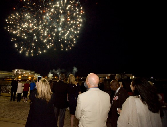 The festivities continued into the night on Friday. (Keith Necaise)