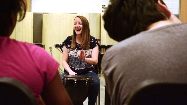 Homewood Middle School's Lauren Nowak marches to the beat of Synergy