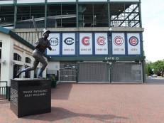 Billy Williams statue at Wrigley Field, home of the Chicago Cubs. (Sam Howzit, Flickr)