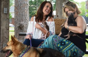 """Heather Wyatt and Dee Tipps are two of the """"foster moms"""" who enable Two by Two Rescue to save hundreds of animals every year. (Karim Shamsi-Basha/Alabama NewsCenter)"""