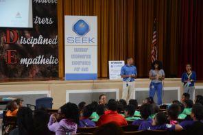 Volunteer staff and educators help students learn engineering concepts. (Karim Shamsi-Basha/Alabama NewsCenter)