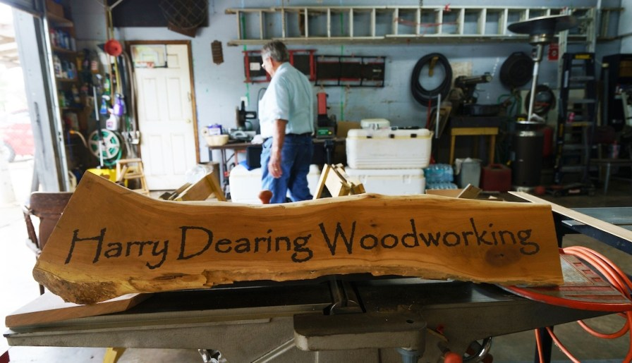 In the past four years, Harry Dearing has carved a spot for himself among the South's acclaimed woodworkers. (Mark Sandlin/Alabama NewsCenter)