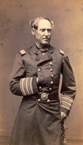 Admiral David Farragut of the U.S. Navy in uniform. (Photograph by C.D. Fredricks & Co., Library of Congress Prints and Photographs Division)