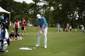 Dru Love demonstrates his swing. (Christopher Jones/Alabama NewsCenter)