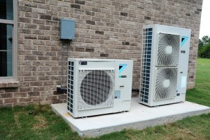 The latest in heat pumps is among the energy efficiency technologies in the Ideal Home. (Karim Shamsi-Bashi / Alabama NewsCenter)