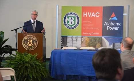 State Sen. Greg Reed speaks during the ceremony. (Karim Shamsi-Basha / Alabama NewsCenter)