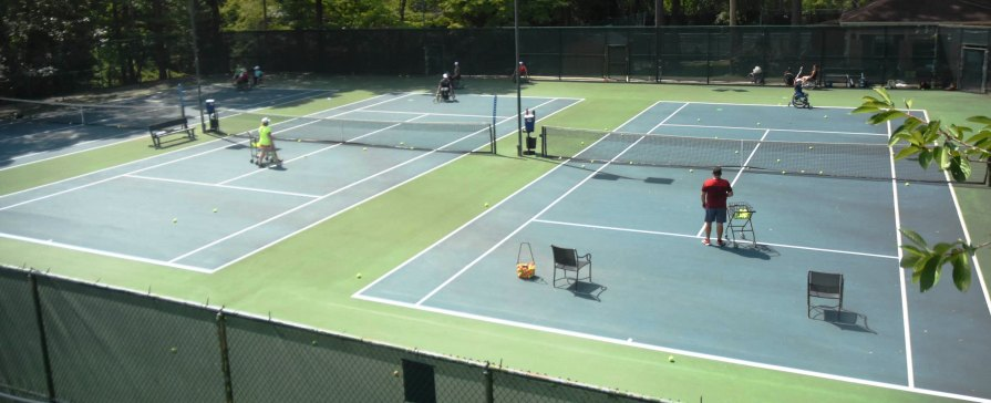 The United States Tennis Association/International Tennis Federation (USTA/ITF) Junior Wheelchair Camp of the Americas is taking place at Lakeshore Foundation through Wednesday, July 12. (Solomon Crenshaw Jr. / Alabama NewsCenter)
