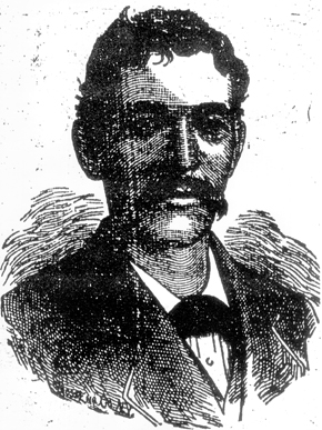 Reuben Romulus Mims led Mobile's Gilmer's Rifles and was later promoted to major of the Alabama State Troops. He became involved in Mobile politics and worked as a letter carrier for many years. Mims also was Grandmaster of Masons for the State of Alabama for 15 years. (From Encyclopedia of Alabama, Courtesy of The Huntsville Journal)
