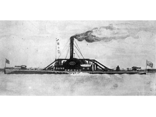 The CSS Selma was a Confederate warship built in 1856 in Mobile. The vessel was captured by the Confederacy in 1861 and converted to a gunship and in 1862 was renamed Selma. The ship fought in the Battle of Mobile Bay and was surrendered to Union forces on August 5, 1864. (From Encyclopedia of Alabama, Photograph by T. Lilienthal, U.S. Naval Historical Center)