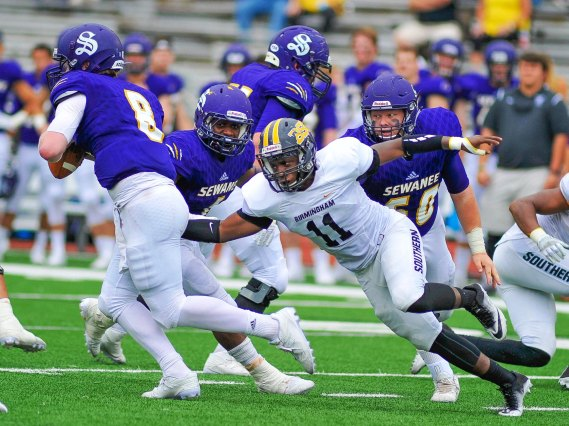 Linebacker Sy Butler is one of the Panthers players who has impressed new coach Tony Joe White. (Mathea Kelley / BSC Athletics)