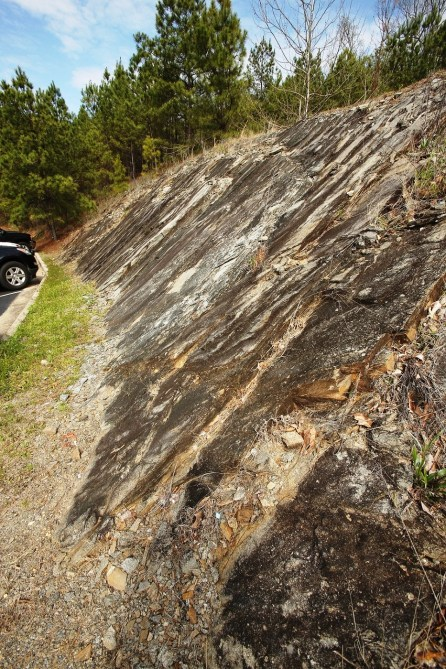 The Wetumpka landscape displays the effects of Alabama's greatest natural disaster 85 million years ago. (Meg McKinney)