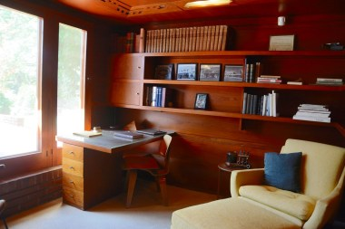 The Rosenbaum House, now open to the public, displays Frank Lloyd Wright's characteristic approach to architecture -- lots of open space, lots of doors, lots of windows, lots of light. (Karim Shamsi-Basha/Alabama NewsCenter)