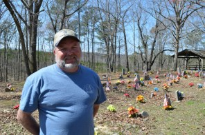 Franky Hatton is a board member and caretaker of the Coon Dog Cemetery. (Anne Kristoff / Alabama NewsCenter)
