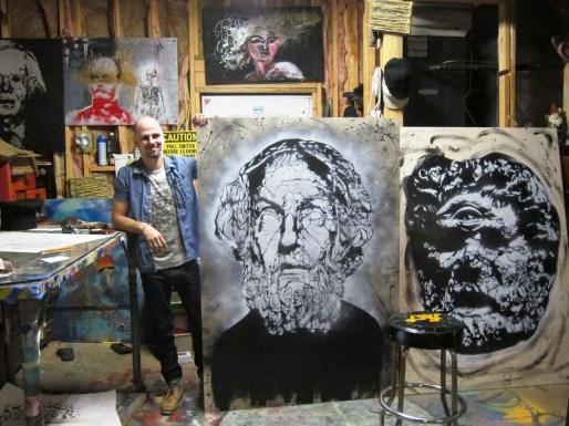 Opelika artist RC Hagans. (Anne Kristoff/Alabama NewsCenter)