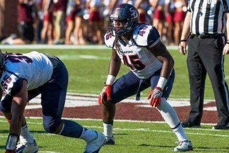 Samford linebacker Shaheed Salmon will be part of the senior leadership for the Bulldogs this year. (Samford Athletics)