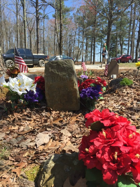 Troop was the first dog buried here in 1937. (Anne Kristoff / Alabama NewsCenter)