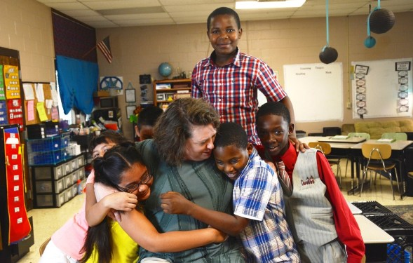 Stephanie Kidd has no doubt she has found her true mission teaching a combined fourth- and fifth-grade class at Lipscomb Elementary School. (Karim Shamsi-Basha/Alabama NewsCenter)