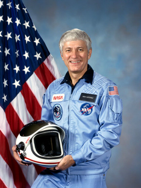 Astronaut Henry Hartsfield (1933-2014) flew on three shuttle missions, serving as commander of the Discovery's first mission to space in 1984. (From Encyclopedia of Alabama, photo courtesy of NASA)