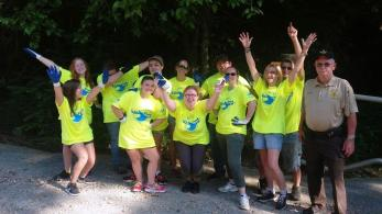 Students from four area high schools and UAB were a big part of the Valley Creek cleanup effort this year. (Jefferson County Department of Public Health)