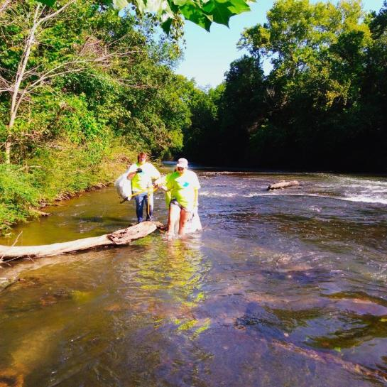 About 250 volunteers and public works personnel pooled their efforts to make Valley Creek cleaner. (Jefferson County Department of Public Health)