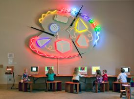Children learn art from computers at the ArtWorks center in the Montgomery Museum of Fine Arts, Montgomery, 2010. (The George F. Landegger Collection of Alabama Photographs in Carol M. Highsmith's America, Library of Congress, Prints and Photographs Division)